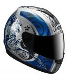 Kask motocyklowy LAZER VERTIGO Aikido srebrny/niebieski
