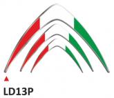 PRINT wypukła naklejka Italian flag