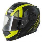 Kask motocyklowy ROCC 882 czarny mat/neonowy  S