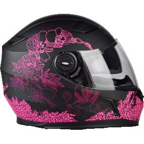 Kask motocyklowy LAZER BAYAMO Pretty Girl czarny/różowy/matowy