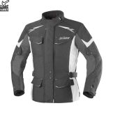 Kurtka motocyklowa damska BUSE Lago II czarno-jasno szara