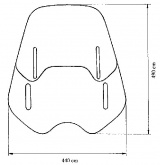 Uniwersalna szyba do motocykli bez owiewek MRA, forma VNB, bezbarwna