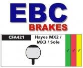 Klocki rowerowe EBC (spiekane) Hayes Sole GX-2 / MX-2 /MX-3 CFA421HH