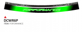 PRINT zestaw 8 naklejek z mikro bąbelkami Perfomance zielone fluo