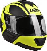 Kask motocyklowy LAZER LUGANO Z-Generation czarny/żółty/fluo/szary/matowy XS