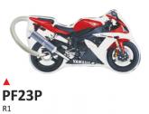 PRINT Dwustronny wypukły brelok na klucze Yamaha R1 rosso