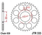 Zębatka napędowa tylna JTR333.43 - 43 zębów