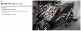 PRINT zestaw naklejek motocyklowych do tmax from 2012 to 2014 mimetic zielone fluo