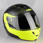 Kask motocyklowy LAZER MONACO EVO Droid Pure Carbon czarny/carbon/matowy/żółty fluo