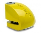 Blokada na tarczę z alarmem XX6 żółta - bolec 6 mm