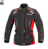 Kurtka motocyklowa damska BUSE Highland czarno-czerwona