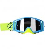 LAZER Gogle - Race Style Mirror Blue - Blue - Yellow Fluo (kol. Mirror Srebrny) rozm.