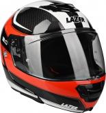 Kask motocyklowy LAZER MONACO EVO 2.0 czarny/carbon/czerwony/biały 2XL