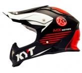 Kask motocyklowy KYT STRIKE EAGLE KMX czarny/czerwony