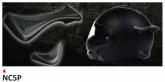 PRINT helmet support spoiler czarne