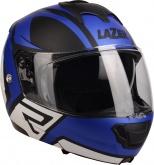 Kask motocyklowy LAZER LUGANO Z-Generation czarny/niebieski/metal/biały/matowy XS
