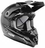 Kask motocyklowy LAZER MX8 Pure Carbon czarny/carbon/biały