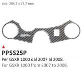 PRINT Naklejka na półkę kierownicy Suzuki GSXR 1000 2007/2008