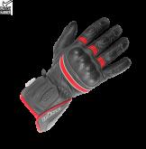 Rękawice motocyklowe BUSE Pit Lane czarno-neonowo czerwone
