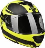 Kask motocyklowy LAZER MONACO EVO 2.0 czarny/carbon/żółty/fluo