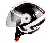 Kask motocyklowy LAZER BOLERO Racer biały/czarny/czerwony