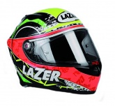 Kask motocyklowy LAZER OSPREY Laverty carbon/żółty/czerwony/zielony