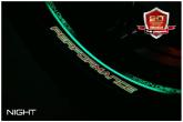 PRINT zestaw 8 naklejek z mikro bąbelkami Perfomance czerwone fluo
