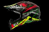 Kask motocyklowy KYT STRIKE EAGLE WEB czerwony/zielony/czarny