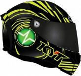 Kask motocyklowy KYT ThunderFlash SPARK żółty