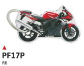 PRINT Dwustronny wypukły brelok na klucze Yamaha R6 rosso