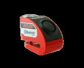 Blokada na tarczę z alarmem i bluetooth XZZ6 czerwona - bolec 6 mm