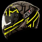 Kask motocyklowy KYT FALCON FASTER czarny/żółty