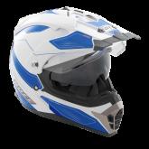 Kask motocyklowy ROCC 771 biało-niebieski