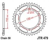 Zębatka napędowa tylna JTR479.48 - 48 zębów