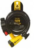 AUVRAY CITY linka spiralna 8mm z zamkiem i uchwytem  - długość 150cm, średnica 8mm