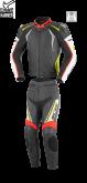 Kombinezon motocyklowy BUSE Silverstone Pro czarno-czerwono-neon