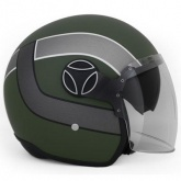 Kask Motocyklowy MOMO ARROW Military Green Frost / White Outline