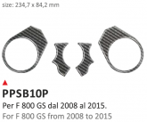 PRINT Naklejka na półkę kierownicy BMW F800GS 2008/2016