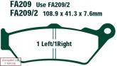 Klocki hamulcowe EBC SFA209/2HH skuterowe (kpl. na 1 tarcze)
