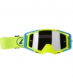 LAZER Gogle - Race Style Mirror Yellow Fluo - Blue - Yellow Fluo (kol. Mirror Srebrny)