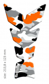 "PRINT tankpad Moon ""Soft touch"" camouflage Orange fluo"