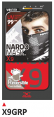 PRINT mask X9 red+grey