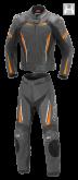 Kombinezon motocyklowy damski BUSE Imola czarno-pomarańczowy 34