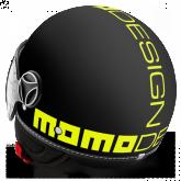 Kask Motocyklowy MOMO FGTR FLUO Czarny Mat / Żółty Fluo