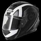 Kask motocyklowy ROCC 882 czarny mat/biały  M