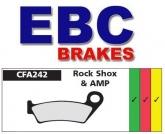 Klocki hamulcowe rowerowe EBC CFA242R ROCK SHOX, AMP