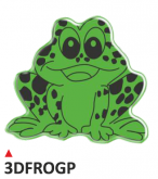 Naklejka 3D PRINT Frog