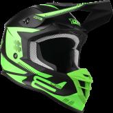 Kask Motocyklowy LAZER OR3 PP3 (kol. Czarny - Zielony Fluo - Matowy) rozm. XL