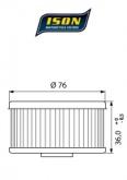 Filtr Oleju ISON 144 (HF144)