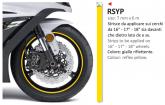 PRINT naklejka na felgi 6mt x 7mm reflex żółte